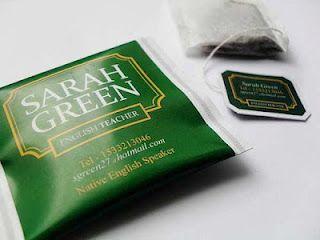 Business card tea bag neat design ideas pinterest business business card tea bag colourmoves