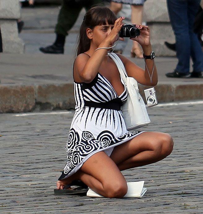 Camera hidden hose pantie upskirt wearing woman