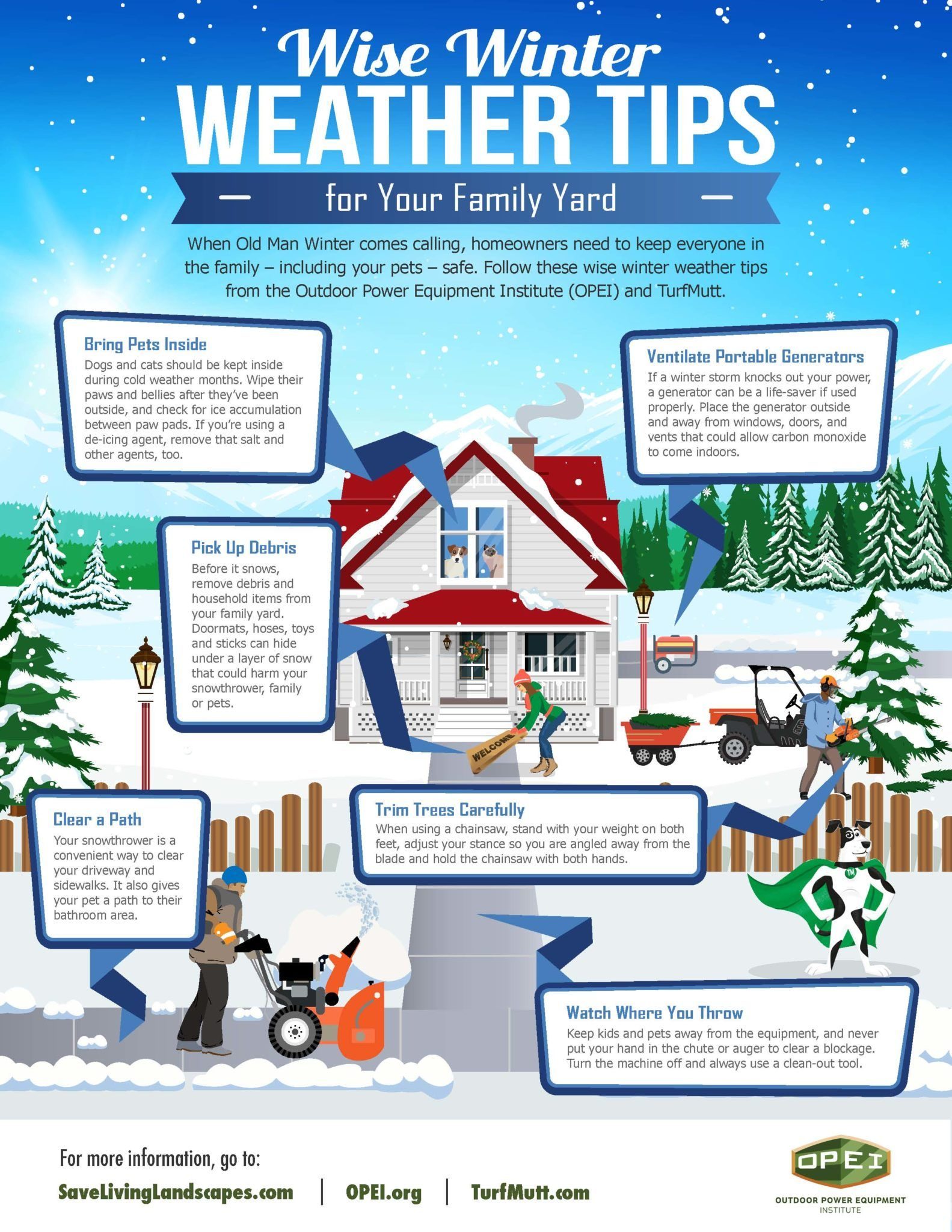 Wise Winter Weather Tips for Your Family Yard Infographic