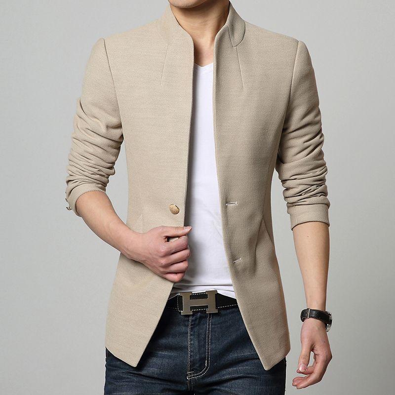 2015 hombres gabardina cruzado delgado ropa de abrigo
