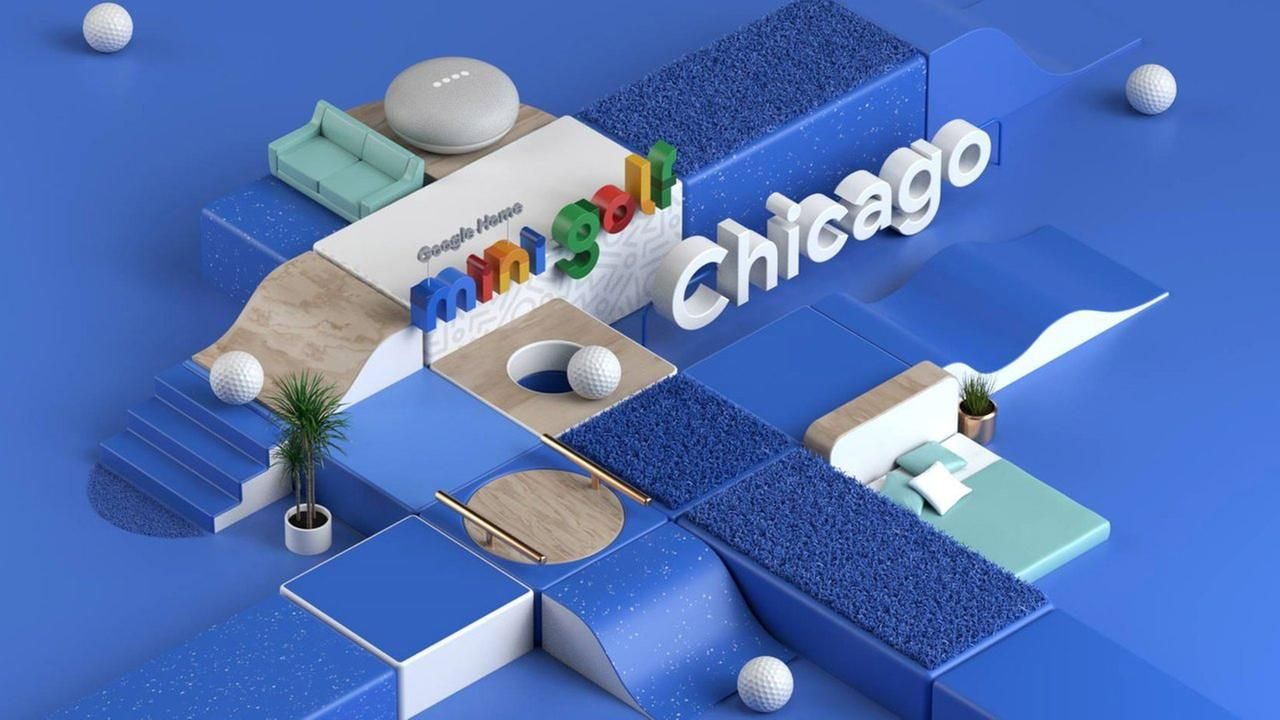 Google builds mini golf course in Chicago's Loop