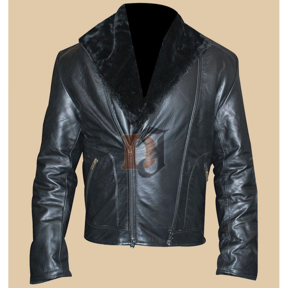 Men's Stylish High Quality Black Genuine Leather Jacket