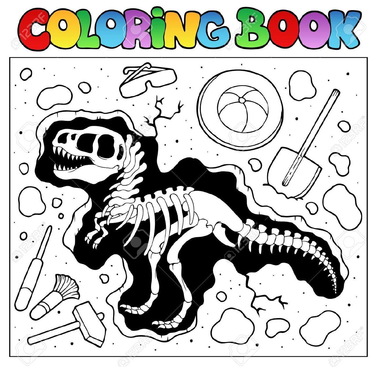 13057399-Libro-para-colorear-con-sitio-de-la-excavaci-n-ilustraci-n ...