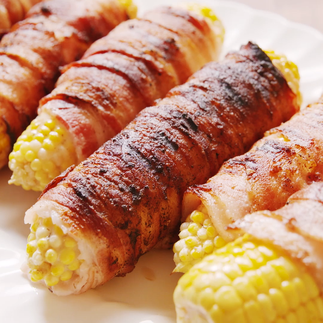 Bacon Wrapped Corn images
