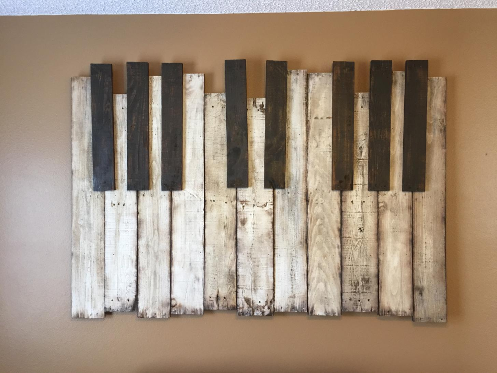 Haunted Mansion Piano Wall Art Piece Pallet Wood 6 X4 Wall Art Diy Easy Pallet Wall Art Diy Pallet Wall