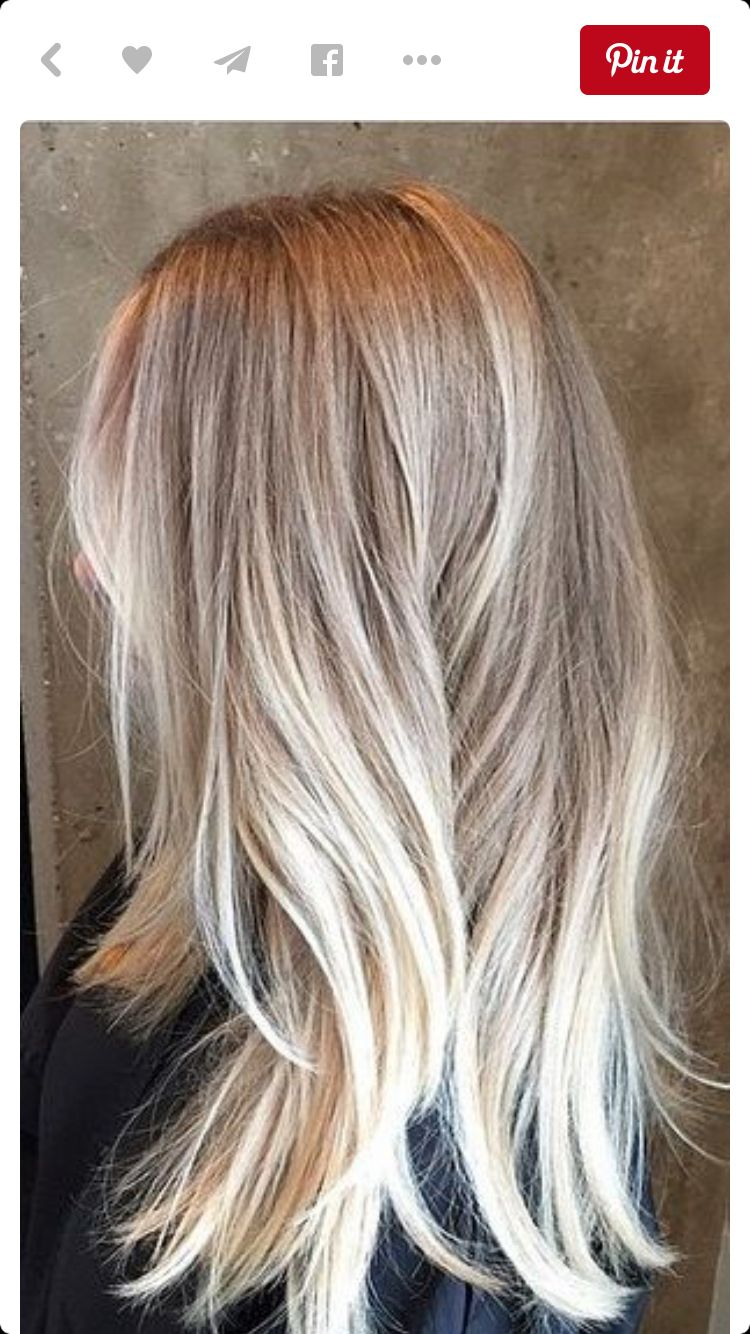 Ash Blonde Color Melt Style Pinterest Color Melting