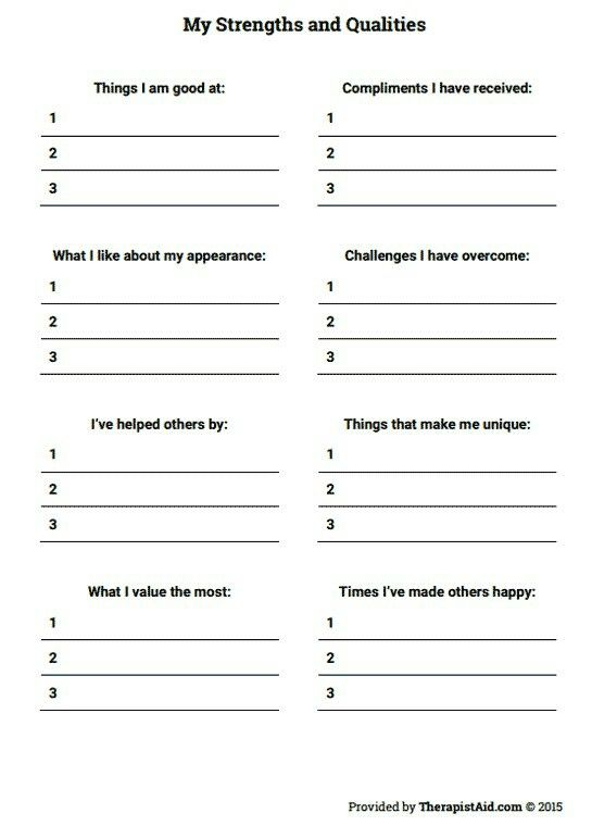 This is an image of Striking Therapy Worksheets for Adults
