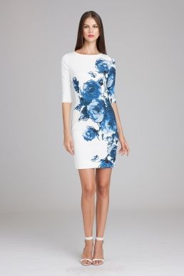6c50f665b81 Teri Jon by Rickie Freeman Printed Floral Scuba Sheath Dress