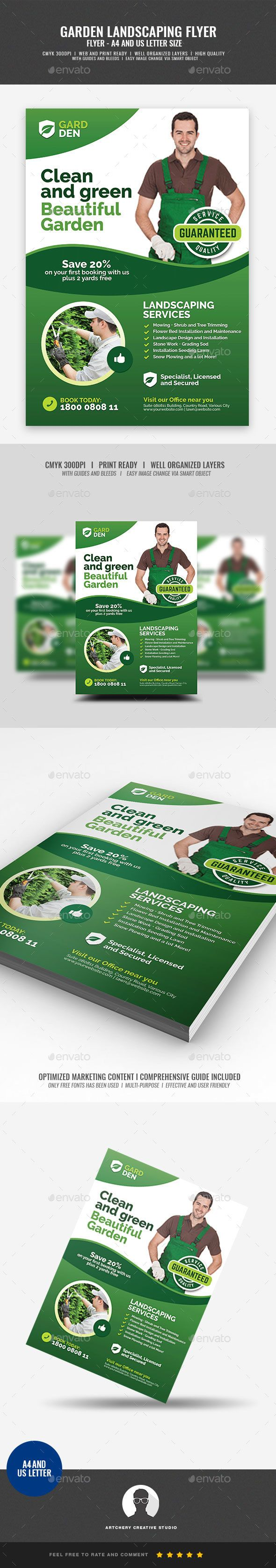 landscaping and lawn care flyer print templates flyers corporate tags a4 flyer advertise advertisement backyard backyard design cleaning flower
