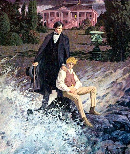 """Illustration from the front cover of the paperback editon of """"Gaywyck""""."""