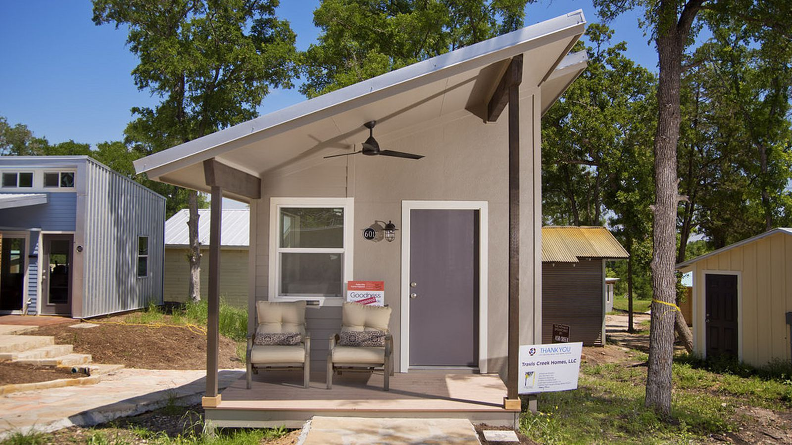 10 Tiny House Villages For Homeless Residents Across The U S Tiny House Village Homeless Housing Dream House Exterior
