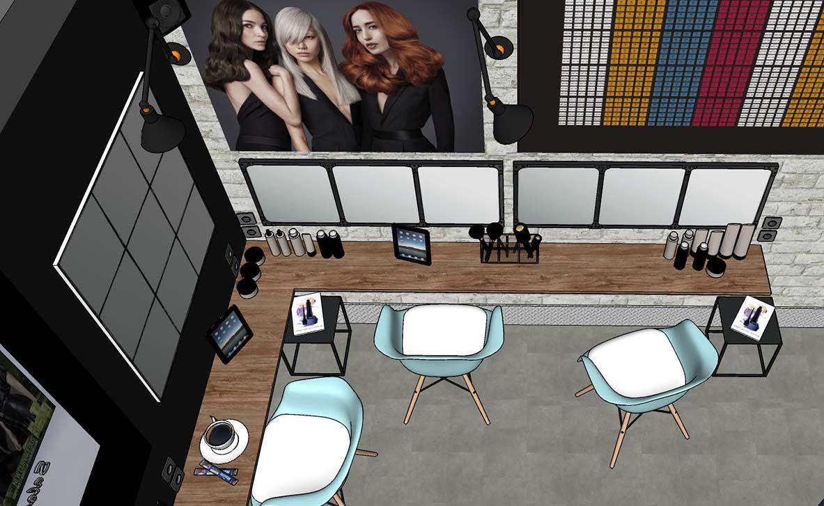 Salon De Coiffure Dans Un Style Atelier Salon De Coiffure Miroir Industriel Salon