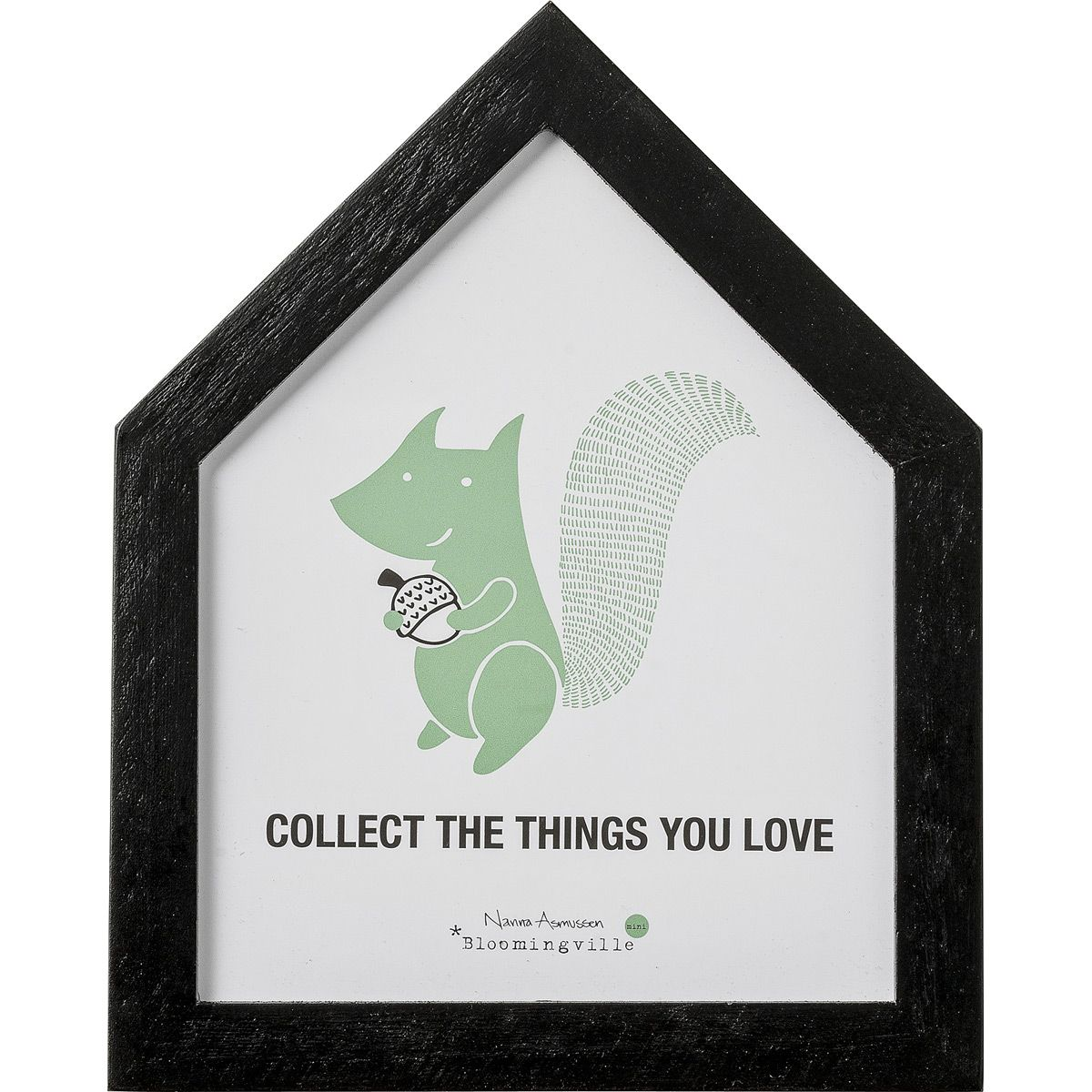 Un cadre maison à accrocher pour faire de jolis rêves et collecter les choses que l'on aime.