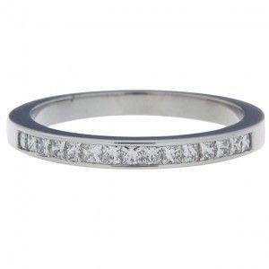 Superb Princess Cut Channel Set Diamond Wedding Ring