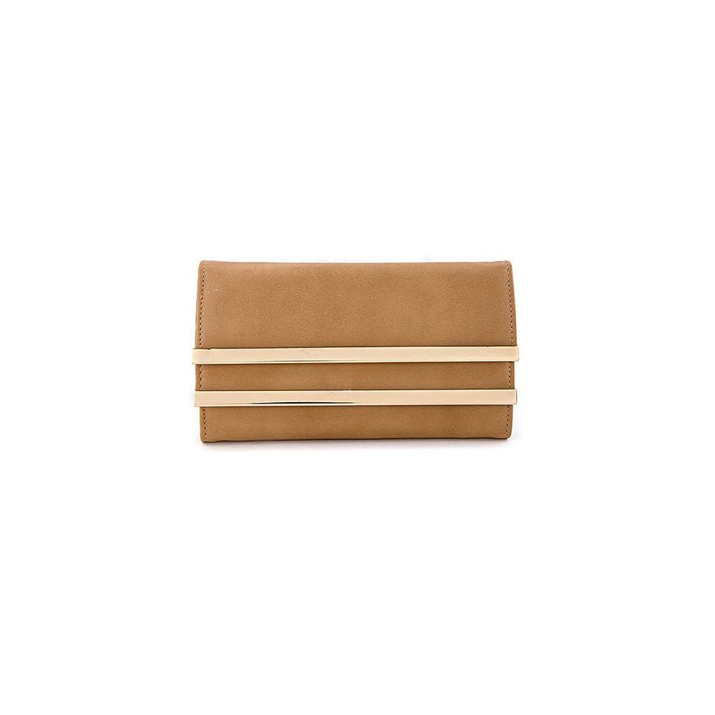 MATTED LEATHER DOUBLE LAYER WALLET
