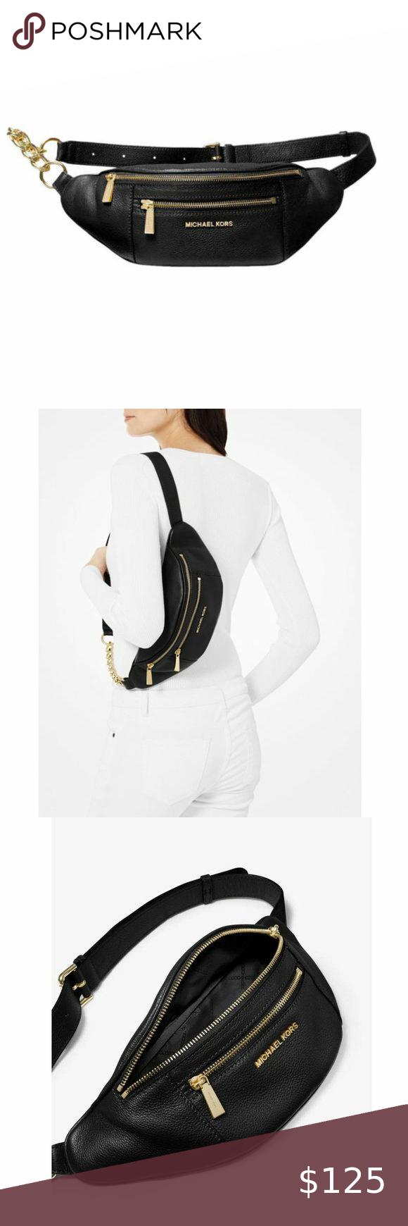 Michael Kors Mott Belt Bag Leather Crossbody Nwt In 2020 Belt Bag Leather Crossbody Leather Bag