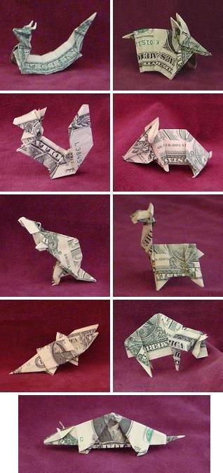 Dollar Bill Origami By John Montroll Dollar Bill Origami Money Origami Dollar Origami