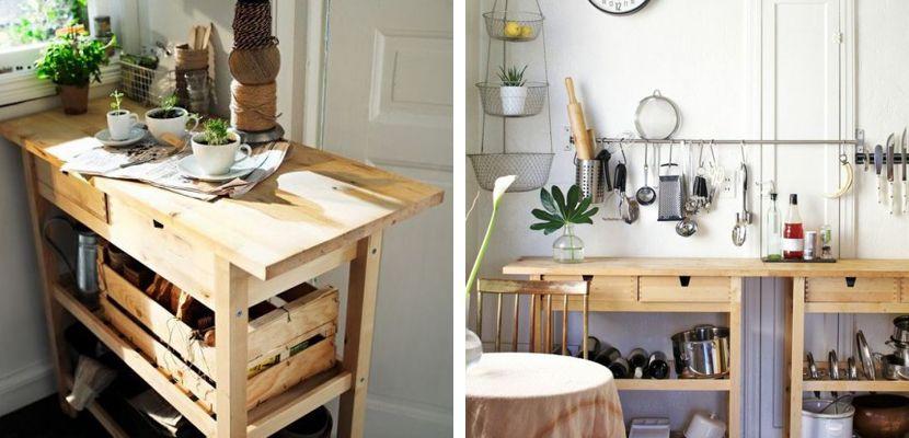 Ideas con el carro Förhöja de Ikea | Mueble auxiliar cocina ...