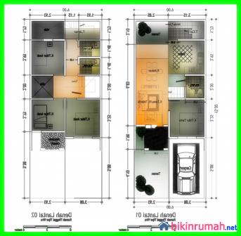 desain rumah minimalis 2 lantai ukuran 6x15 makin banyak