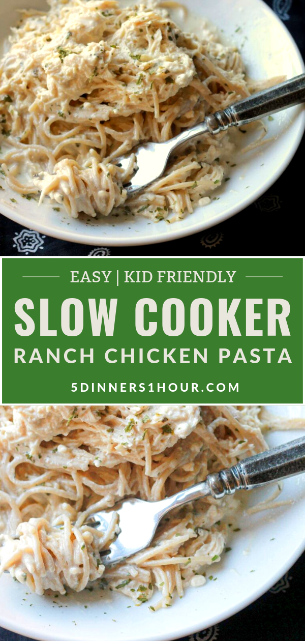 Creamy Ranch Chicken Pasta - A Kid Pleaser! - 5 Dinners In 1 Hour