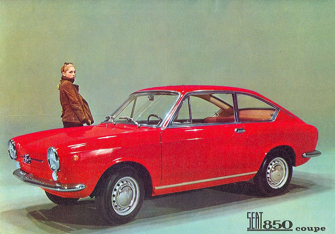 seat 850 coupe us classic car brochures pics ads. Black Bedroom Furniture Sets. Home Design Ideas