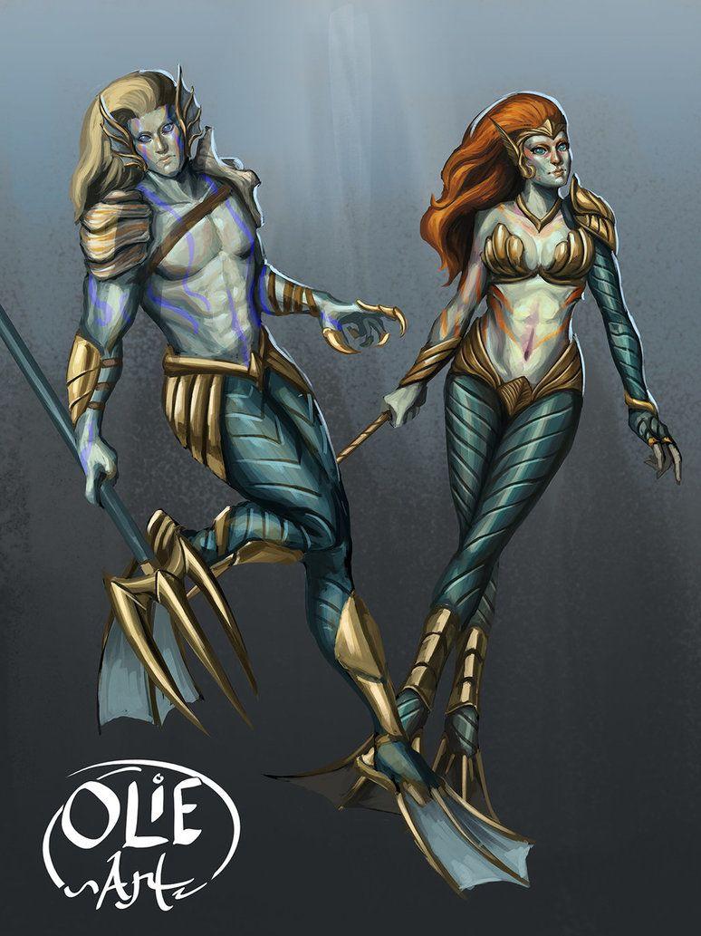 Commission: Atlantean by Olieart.deviantart.com on ...