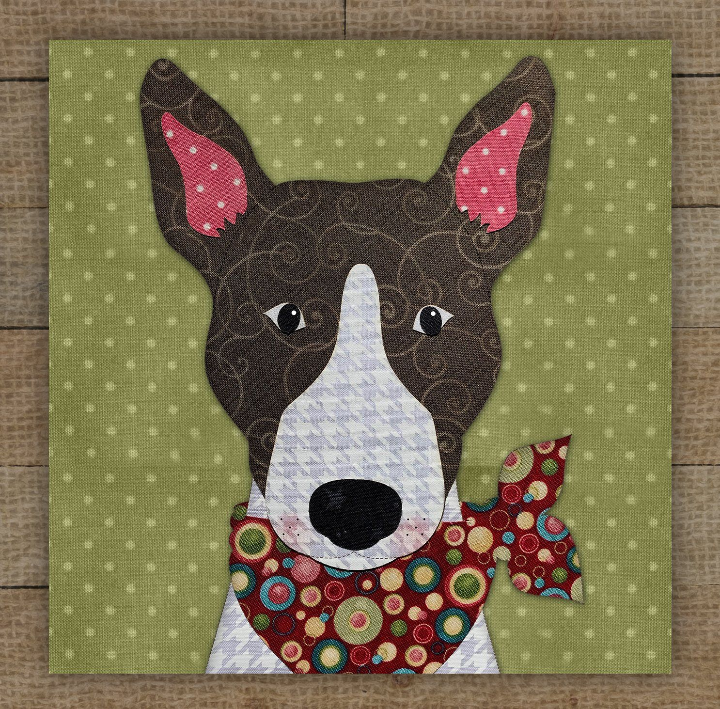 Bull Terrier (Brown) Precut Fused Applique Kit - 6