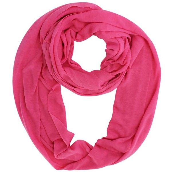 Hot Pink Jersey Knit Circle Scarf ($14) ❤ liked on Polyvore featuring accessories, scarves, hot pink, jersey infinity scarves, long infinity scarves, infinity scarves, lightweight infinity scarves and long scarves