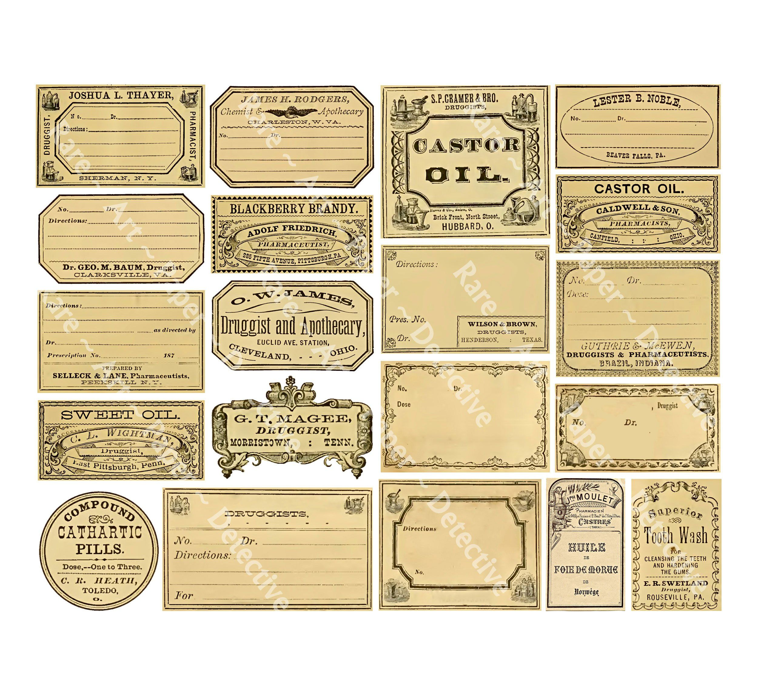 20 Apothecary Sticker Labels Vintage Pharmacy Potion Jar Etsy Sticker Labels Apothecary Sticker Photo Paper