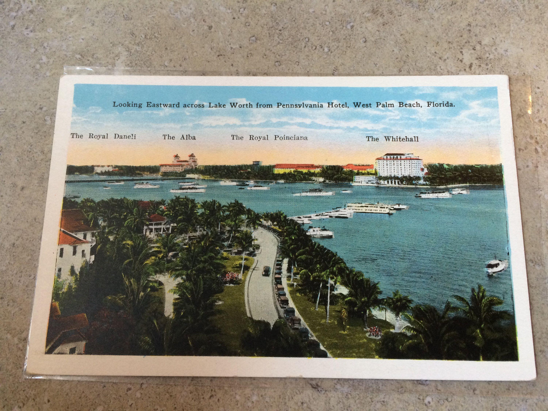 Looking Eastward Across Lake Worth From Pennsylvania Hotel Etsy West Palm Beach Florida Hotel Pennsylvania Lake Worth