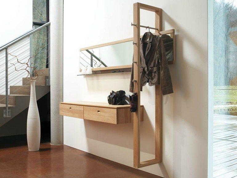 Ingressi Mobili ~ Mobile da ingresso componibile in legno massello a parete v vita