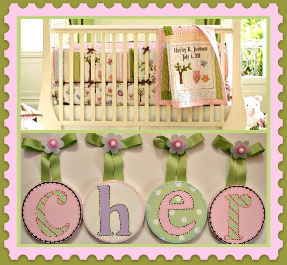 how to hang nursery letters