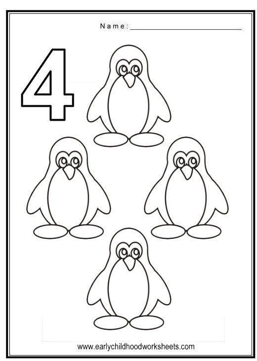 Coloring Numbers Birds Theme Preschool Worksheets Numbers Preschool Math Activities Preschool