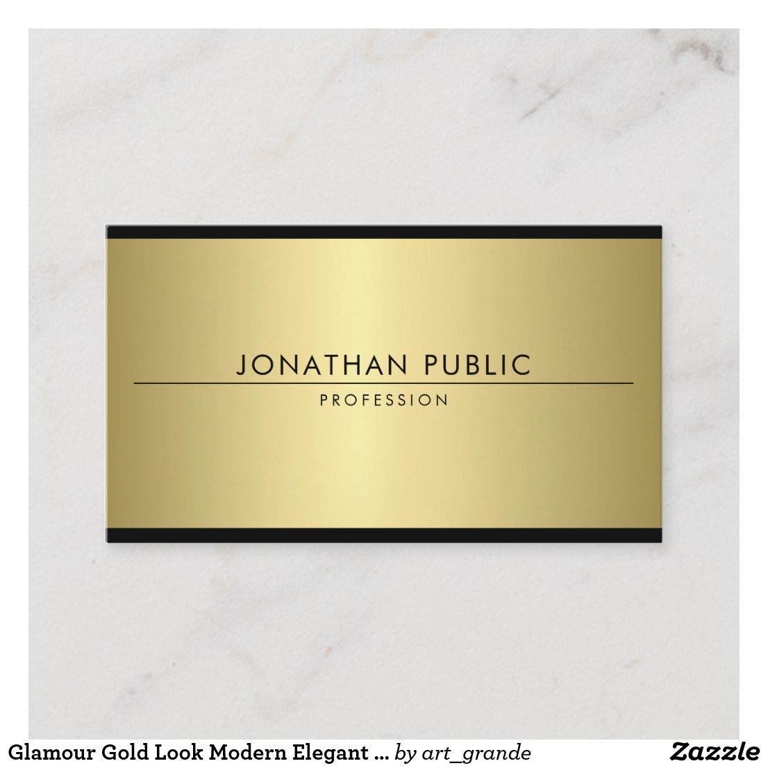 Glamour Gold Look Modern Elegant Simple Template Business