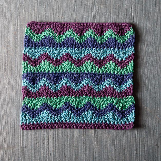 Mismatched Dishcloth Crochet Knitted Dishclothspotholders