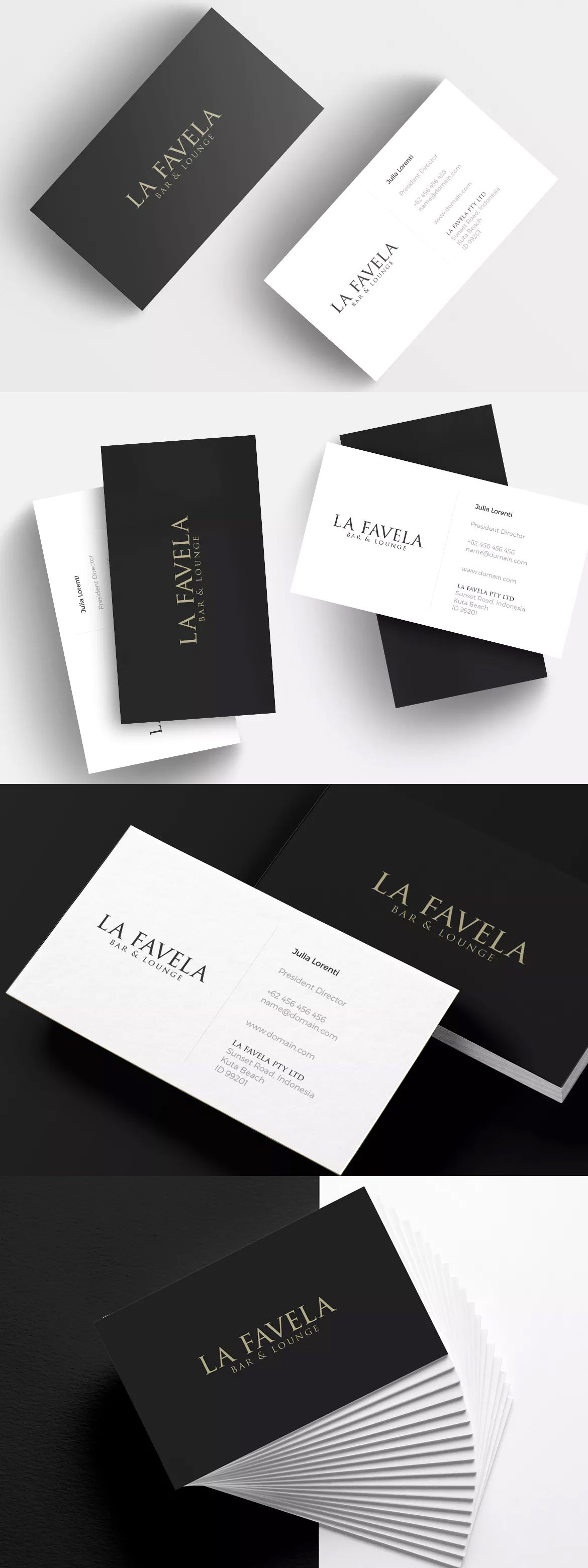 Minimal Business Card Restaurant By Micromove On Business Card
