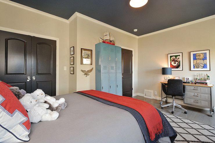 @Lindsey Grande Irving Navy ceiling, beige walls | Bedroom ... on Beige Teen Bedroom  id=54190