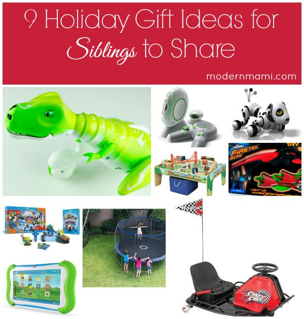 9 Holiday Gift Ideas For Siblings To Share Modernmami Joint Christmas Gifts Sibling Gifts Christmas Sibling Gifts