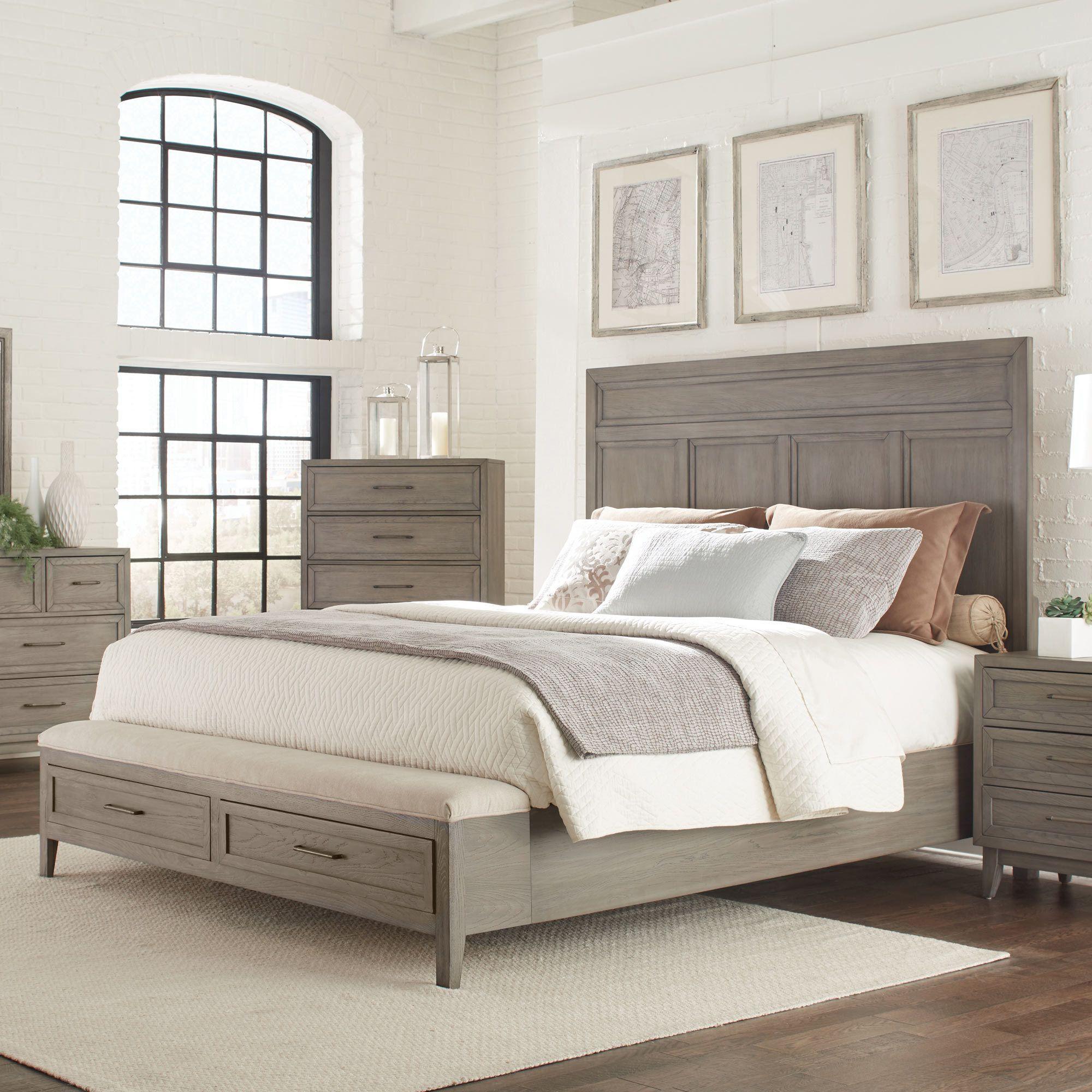Vogue Queen Panel Storage Bed Riverside Furniture Home