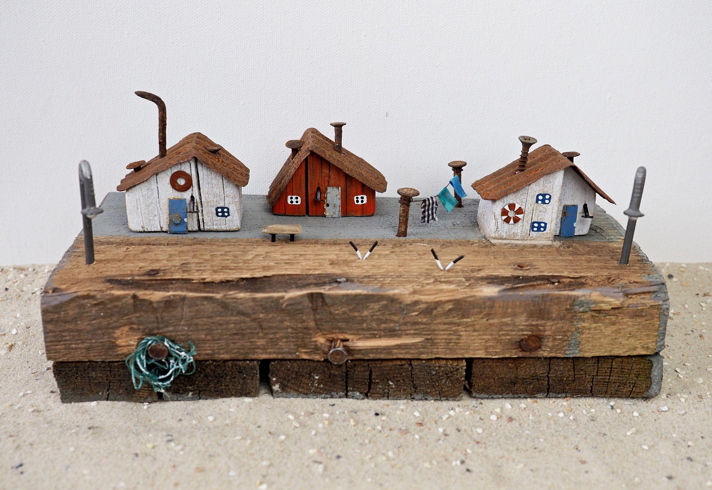 Treibholz Hauschen Treibholzhauschen Maritime Dekoration Maritime