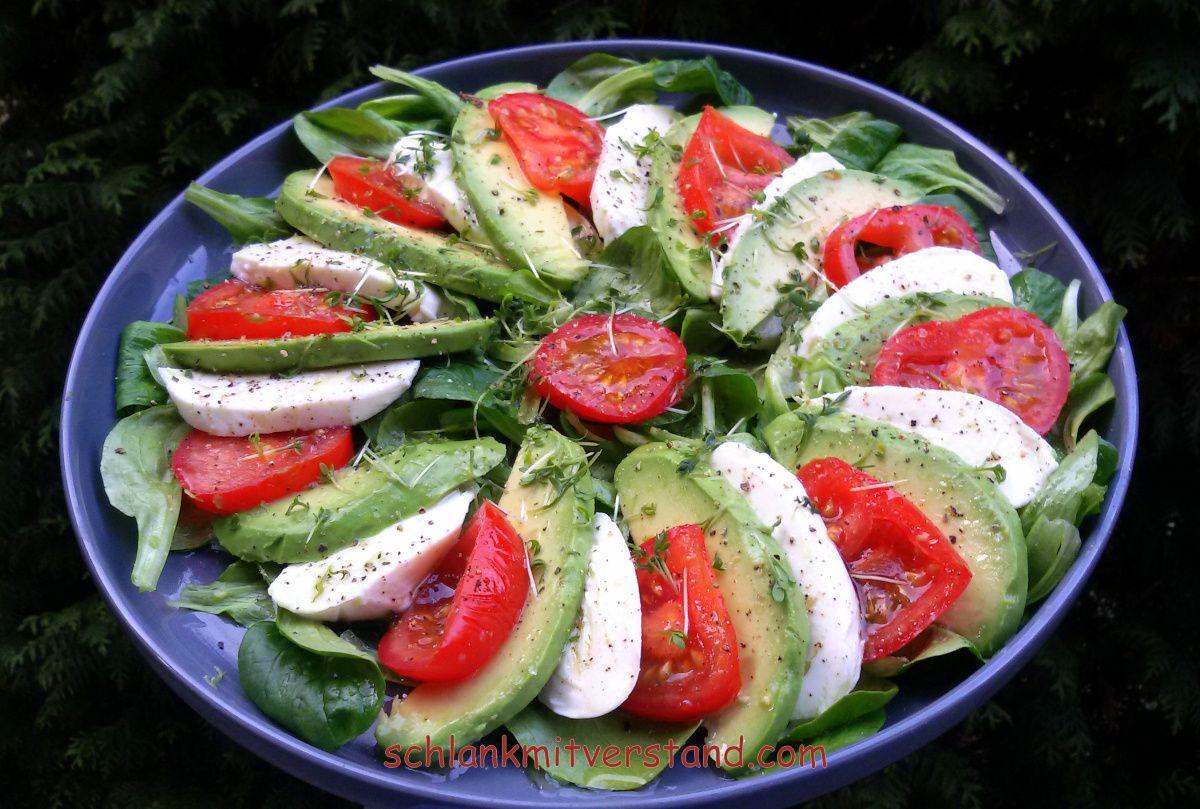 Avocadosalat low carb, vegetarisch  http://schlankmitverstand.com/ #lowcarb #abnehmen #Rezept