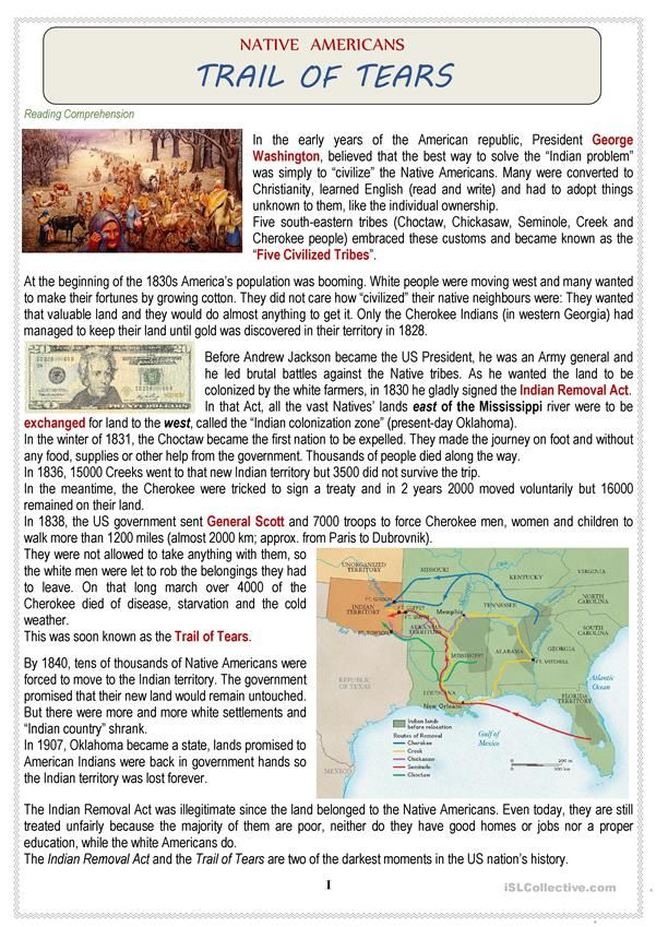 Photo of Native Americans (USA) – TRAIL OF TEARS + Quiz