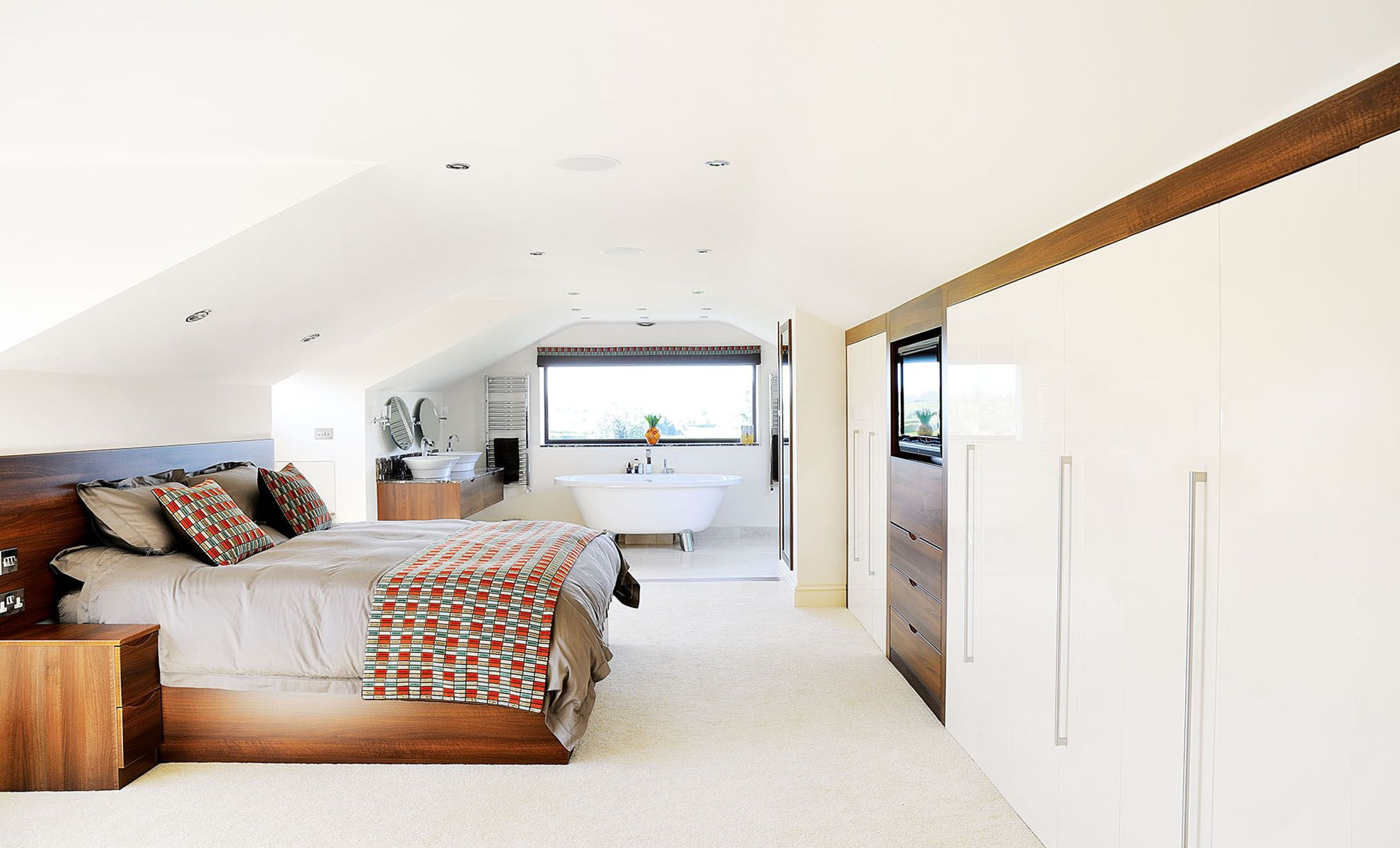 Luxury open-plan master suite | interiors | Pinterest