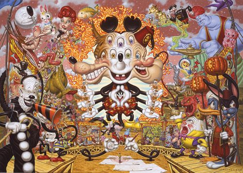 Todd Schorr's pop surrealism...Disney on acid.