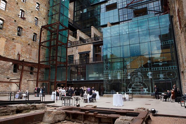 The Ruins Courtyard at Mill City Museum is a good example of adaptive reuse, or the effort to make a new, modern museum, timeless.