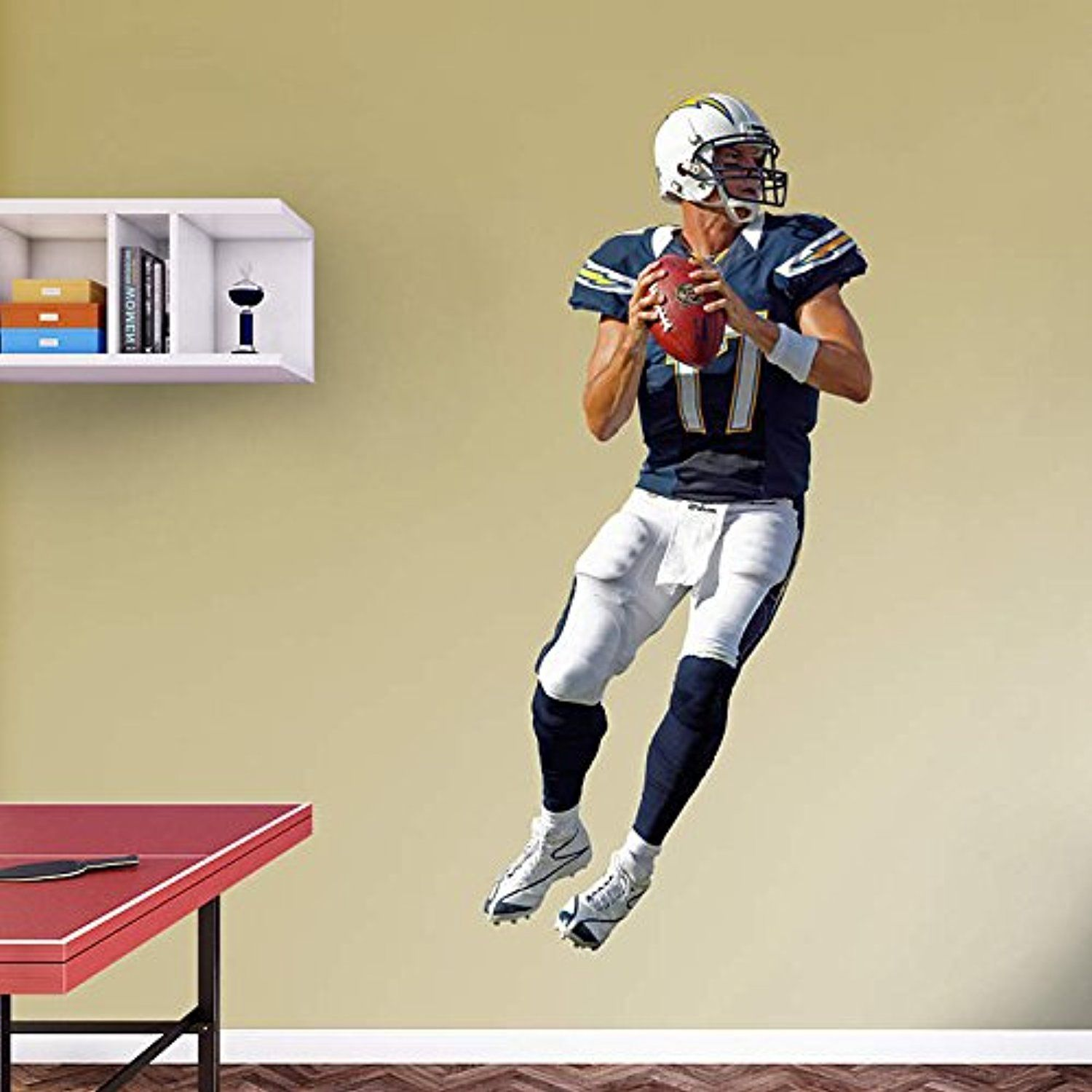 Philip Rivers FATHEAD San Diego Chargers NFL Vinyl Wall Graphic LIFE ...