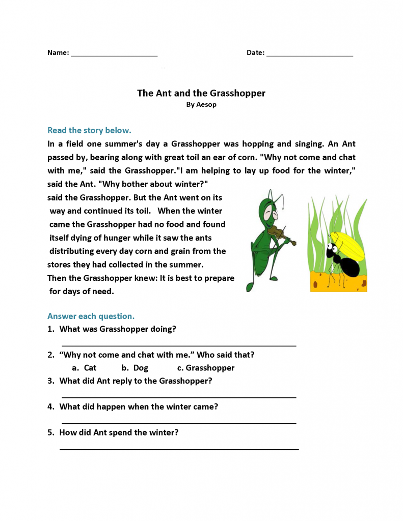 1st Grade Reading Worksheets - Best Coloring Pages For Kids   Reading  comprehension worksheets [ 1024 x 791 Pixel ]