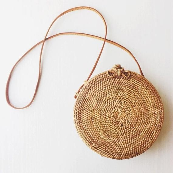 Bali Round Wicker Rattan Bag #purses