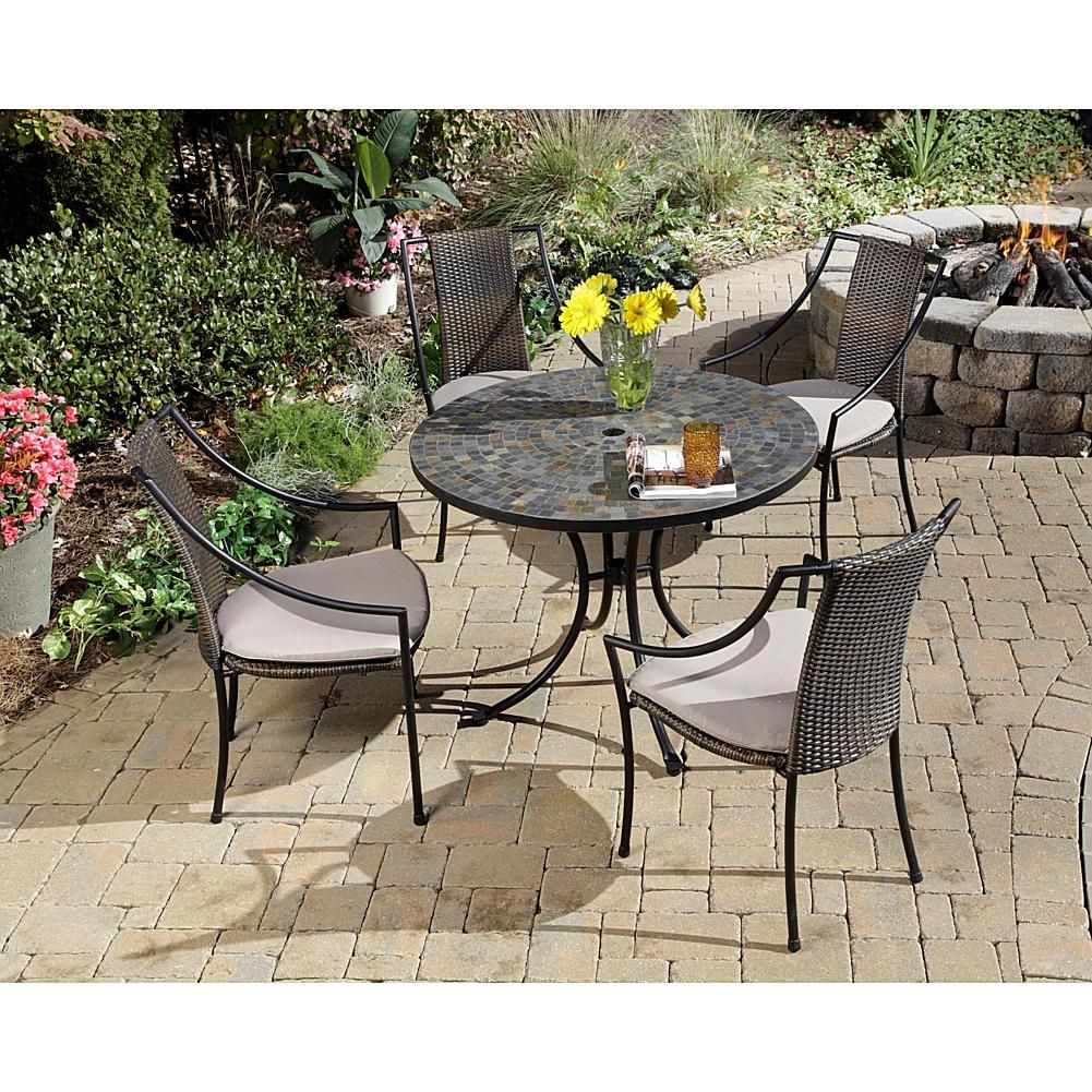 Home Marketplace Stone Harbor 5piece Outdoor Dining Set