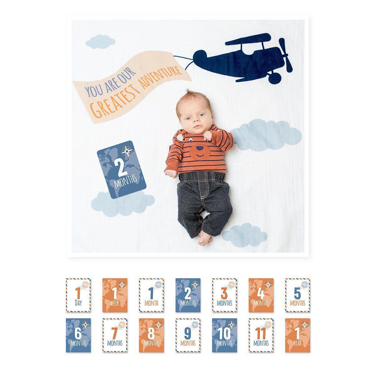 Lulujos baby first year milestone blanket cards set